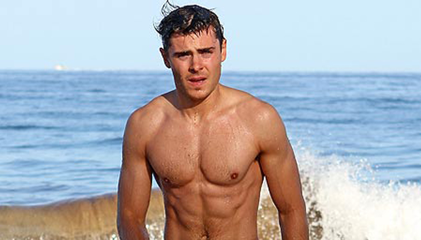zac efron six pack