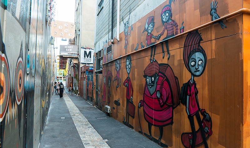 Garry Norris Street Art in Perth City's Grand Lane
